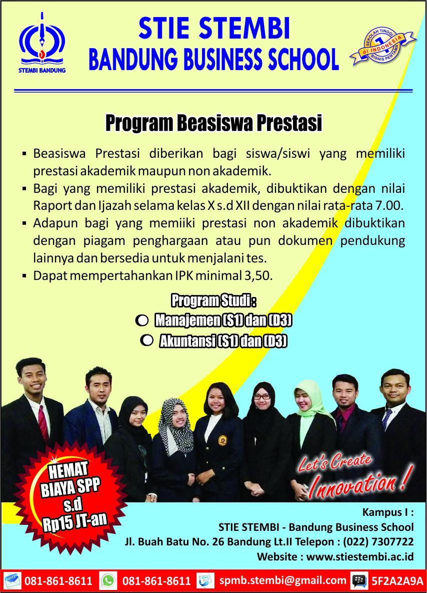 Penerimaan Mahasiswa Baru Program Beasiswa Prestasi